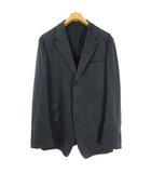 イヴサンローラン YVES SAINT LAURENT シングル テーラード ジャケット ブレザー コットン YSL刺繍 54 ネイビー 国内正規品