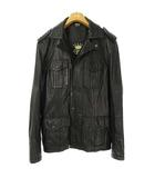 ディーゼル DIESEL カウレザー M65 ジャケット ブルゾン 牛革 S ブラック 黒 国内正規品