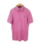 ポロゴルフ ラルフローレン POLO GOLF RALPH LAUREN ボーダー ポロシャツ トップス ワンポイント コットン 半袖 M パープル 国内正規品