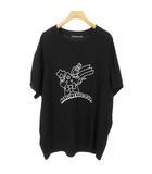 メルシーボークー mercibeaucoup プリント カットソー Tシャツ トップス オーバーサイズ 半袖 1 ブラック