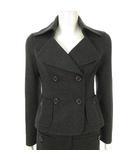 エポカ EPOCA セットアップ スーツ ジャケット ハーツ パンツ ウール 羊毛 チャコールグレー 38 IBS63