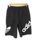 アディダス adidas オールド ショート パンツ ショーツ ジャージー素材 ロゴプリント M ブラック 国内正規品