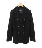 バーバリー ロンドン BURBERRY LONDON ショート丈 トレンチ コート ジャケット コットン 36 ブラック 黒 国内正規品