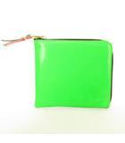 Super Fluo レザー コンパクトウォレット 財布 L字 ファスナー カラーブロック ネオンカラー マルチ スペイン製 SA3100FS