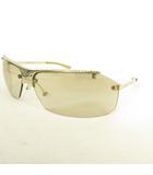 クリスチャンディオール Christian Dior DIOR HIT 2 サングラス アイウェア ハーフリム メタル ラインストーン ライトブラウン シルバーカラー