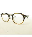 金子眼鏡 KANEKO OPTICAL × HOMESTEAD ジャーナルスタンダード Pierre メガネ 眼鏡 ダークブラウン クリアレンズ
