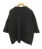 ビームス BEAMS ビックシルエット オーバーサイズ Tシャツ カットソー トップス 五分袖 M ブラック