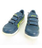 アシックス asics FCP202 スニーカータイプ 安全靴 作業靴 マジックテープ ベルクロ 25cm ブルー系