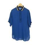 ディーゼル DIESEL レーヨン プルオーバー ブラウス シャツ ポロシャツ カットソー 半袖 XS ブルー 国内正規品
