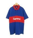 シュプリーム SUPREME 16SS S/S Rugby shirt ボックスロゴ ショートスリーブ ラガーシャツ 半袖 M ブルー レッド