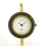 1100-L バングル ウォッチ チェンジベゼル 11種 クオーツ 時計 ゴールド ■WY