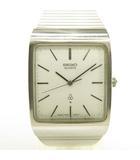 7830-505 クオーツ 腕時計 アナログ 三針 シルバー ホワイト文字盤