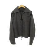 2016AW ミラノ コレクション ウール チェック プルオーバー シャツ ジャケット 長袖 50 ネイビー系