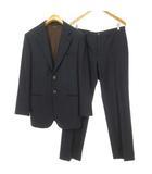 FATTO A MANO ストライプ シングル スーツ セットアップ フォーマル 48 ネイビー 国内正規品 ECR9