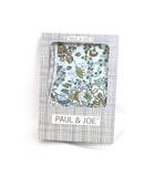 ポール&ジョー PAUL&JOE 未使用 タグ付 腹巻 はらまき インナー コットン 綿 イラスト 花柄 L ブルー 青 /P37 秋冬