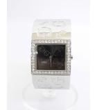 ゲス GUESS 箱付き 腕時計 バングル ウォッチ ロゴ ストーン シルバーカラー /YZ84