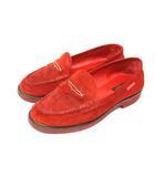 ルイヴィトン LOUIS VUITTON ドライビングシューズ モカシン スエード レザー 25.5 靴 赤 レッド /Z