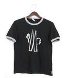 モンクレール MONCLER Tシャツ カットソー クルーネック プリント 半袖 M ブラック 黒 /YM1177