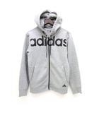 アディダス adidas パーカー フーディー 長袖 M 灰色 グレー /Z