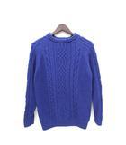 アーバンリサーチ URBAN RESEARCH コットン セーター カットソー 長袖 38 青 ブルー /Z