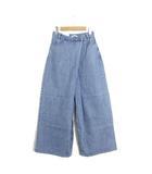 クラネ CLANE 未使用 タグ付 パンツ デニム ジーンズ スーパー バギー ワイド 変形 ロング 25 ブルー 青 /C319