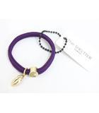 シェルター Sheltter 未使用 タグ付 ブレスレット ヘアゴム チャーム アクセサリー パープル 紫 /Yj370