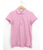 ユニクロ UNIQLO ポロシャツ カットソー ボーダー 半袖 L ピンク /YT10