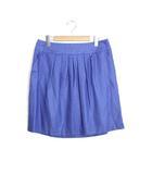 アンタイトル UNTITLED 未使用 タグ付 スカート ギャザー プリーツ ミニ 無地 テープ 42 ブルー 青 /Yq115