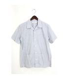 ドレステリア DRESSTERIOR 未使用 タグ付 開襟シャツ シャツ 半袖 チェック コットン 綿 2 ブルー 青 /Hn374