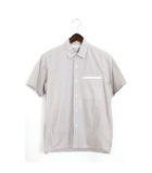 ドレステリア DRESSTERIOR 未使用 タグ付 LE TiROiR シャツ 半袖 チェック コットン 綿 フロントポケット S ブラウン 茶 /Hn391
