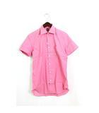 タケオキクチ TAKEO KIKUCHI 未使用 タグ付 ドレスシャツ シャツ クールマックス アワティ コットン 綿 半袖 2 ピンク /Hn675