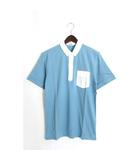 ドレステリア DRESSTERIOR 未使用 タグ付 LE TiROiR シャツ ポロシャツ 半袖 コットン 綿 切替 無地 バイカラー M ブルー 青 /Hn619