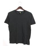オルタナティブ ALTERNATIVE Tシャツ カットソー オーガニックコットン 半袖 S ブラック 黒 /YA1