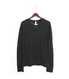 オルタナティブ ALTERNATIVE 未使用 タグ付 Tシャツ カットソー ロンT 長袖 コットン 綿 バーンアウト L ブラック 黒 /H