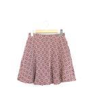 インデックス INDEX 未使用 タグ付 スカート ミニ丈 総柄 フレア ジャガード コットン 綿 M レッド 赤 /R59