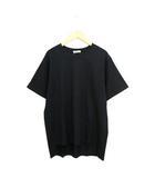 クラネ CLANE 未使用 タグ付 Tシャツ カットソー 半袖 シンプル 無地 バックロング コットン 綿 2 ブラック 黒 /C108