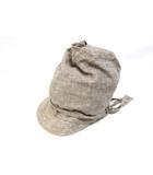 メルベイユアッシュ MERVEILLE H. ターバンバイザー サンバイザー 帽子 リネン ブラウン /Z