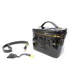 シャネル CHANEL バニティバッグ ショルダーバッグ パテント ココマーク 黒 ブラック 鞄 /Z