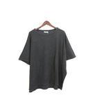 クラネ CLANE 未使用 タグ付 ニット Tシャツ トップス ミラノリブ シンプル 無地 ボートネック 1 グレー /C536b