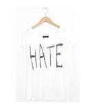 ロエン Roen 未使用 タグ付 Rat Roen Tシャツ カットソー ロゴ プリント 刺繍 半袖 F ホワイト 白 /H191