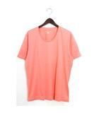 タケオキクチ TAKEO KIKUCHI 未使用 タグ付 カットソー Tシャツ 半袖 無地 コットン 綿 Uネック シンプル 4 LL ピンク /Hn683