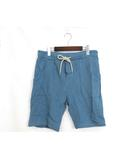 オルタナティブ ALTERNATIVE 未使用 タグ付 ハーフパンツ ショート パンツ オーガニック コットン 綿 M ブルー 青 /YA12