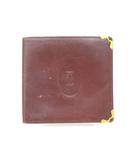カルティエ Cartier お札入れ 二つ折り 財布 マストライン ボルドー /Z