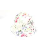 ラルフローレン RALPH LAUREN バケットハット 帽子 花柄 46cm 白 ホワイト /Z