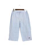 ポール&ジョー PAUL&JOE 未使用 タグ付 イージーパンツ パンツ 無地 シンプル クロップド コットン 綿 M ブルー 青 /P27
