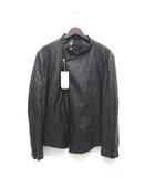 ポールスミス PAUL SMITH ライダースジャケット 革ジャン ブルゾン カットオフ ラムレザー XL 黒 ブラック /Z