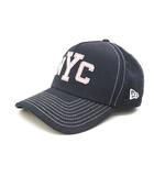 ニューエラ NEW ERA キャップ 帽子 NYC ステッチ 紺 ネイビー /Z