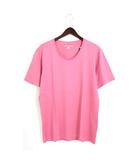 タケオキクチ TAKEO KIKUCHI 未使用 タグ付 カットソー Tシャツ 無地 天竺 Uネック 半袖 3 ピンク /Hn679