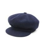 カンゴール KANGOL キャスケット ハンチング 2WAY 帽子 ウールブレンド 紺 ネイビー /Z