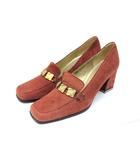 イヴサンローラン YVES SAINT LAURENT パンプス 靴 シューズ スエード 35 赤 レッド /Z